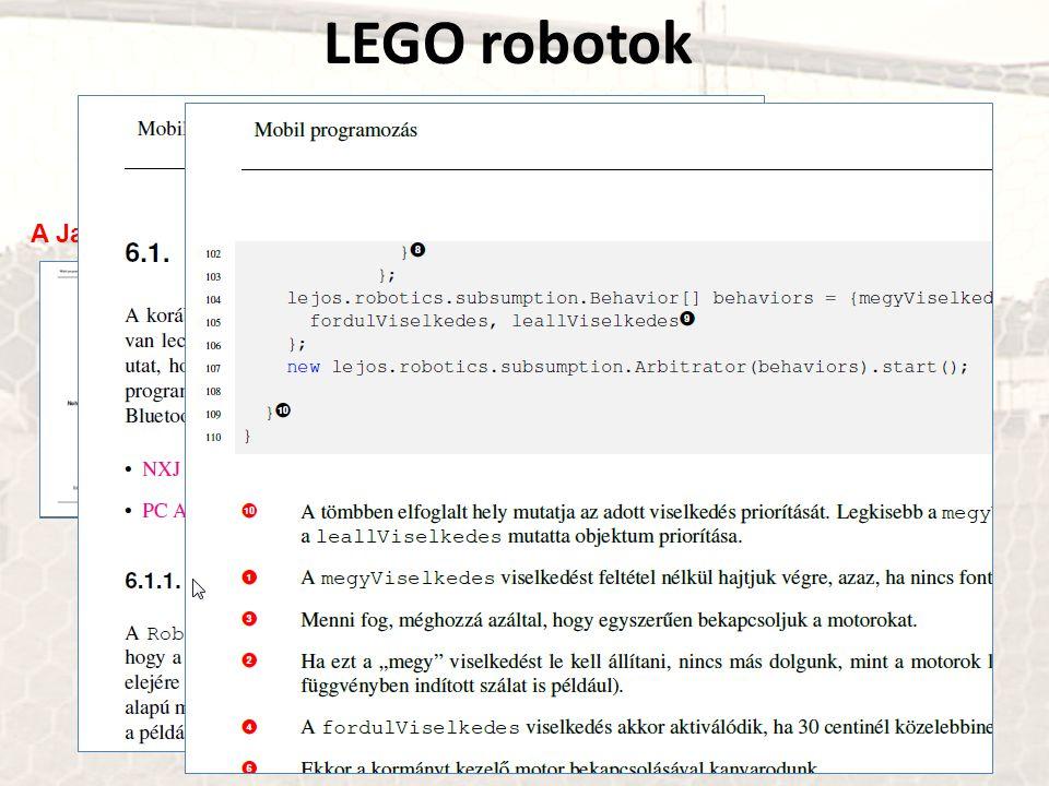 LEGO robotok A Java ME-hez és a leJOS Viselkedés API-hoz