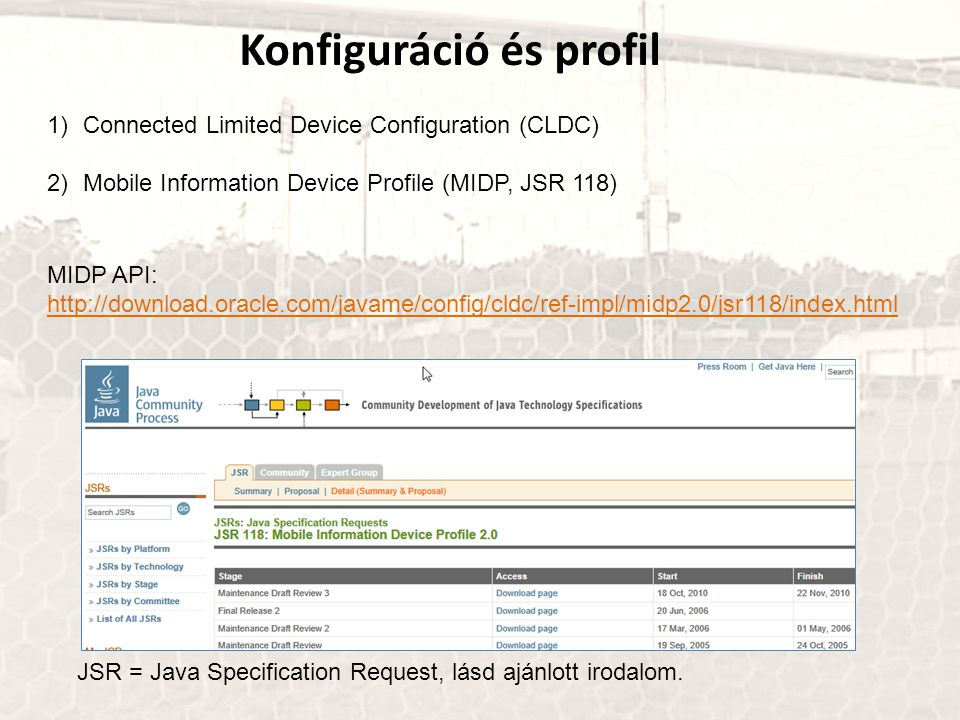 Konfiguráció és profil