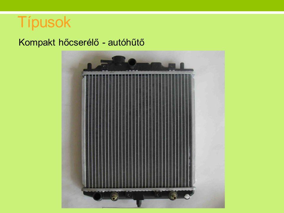 Típusok Kompakt hőcserélő - autóhűtő