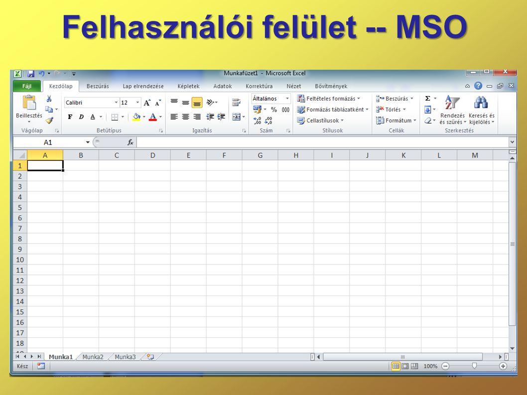 Felhasználói felület -- MSO