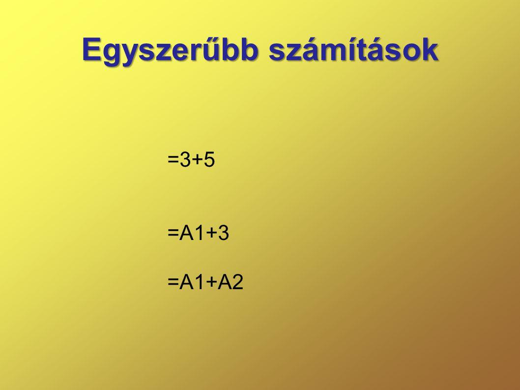Egyszerűbb számítások