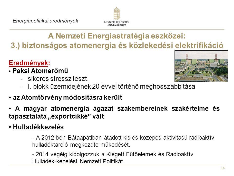 A Nemzeti Energiastratégia eszközei: