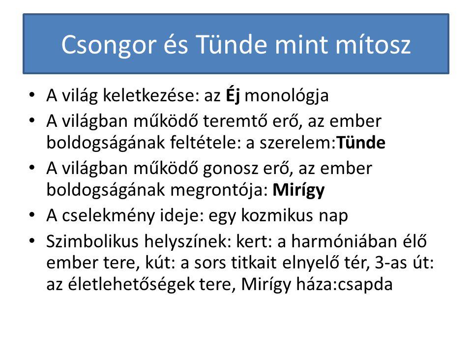 Csongor és Tünde mint mítosz