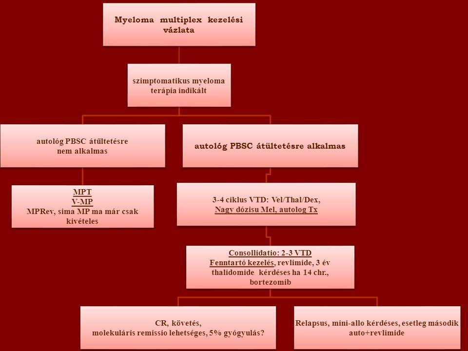 Myeloma multiplex kezelési vázlata