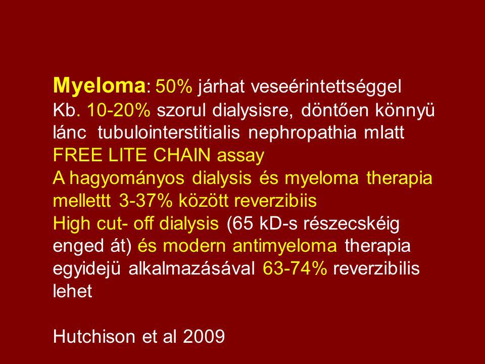 Myeloma: 50% járhat veseérintettséggel