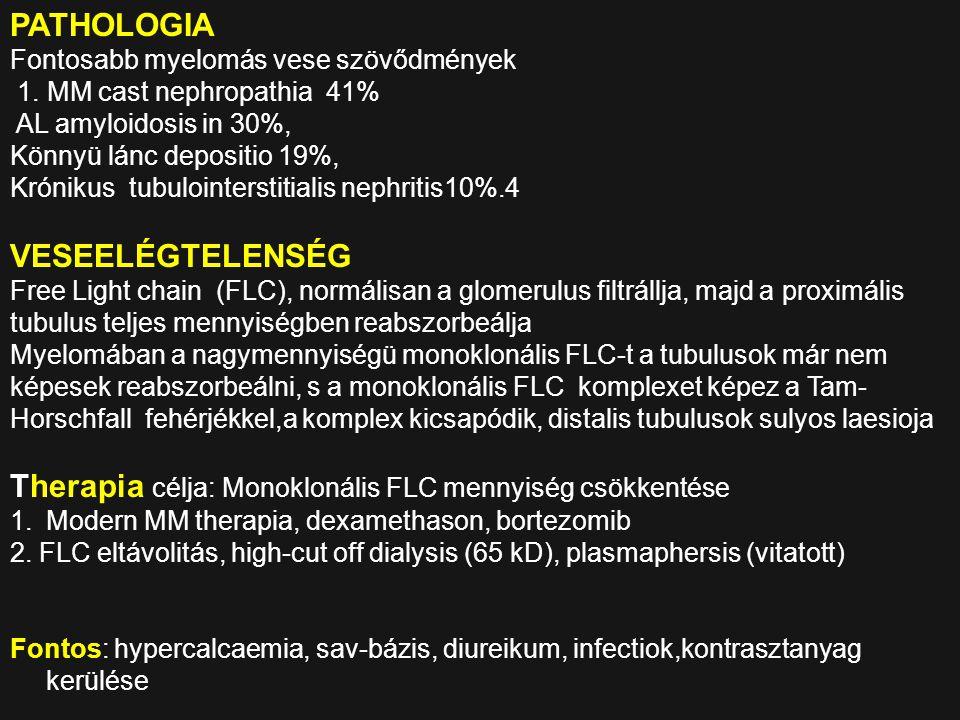 Therapia célja: Monoklonális FLC mennyiség csökkentése