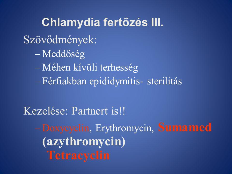 Chlamydia fertőzés III.
