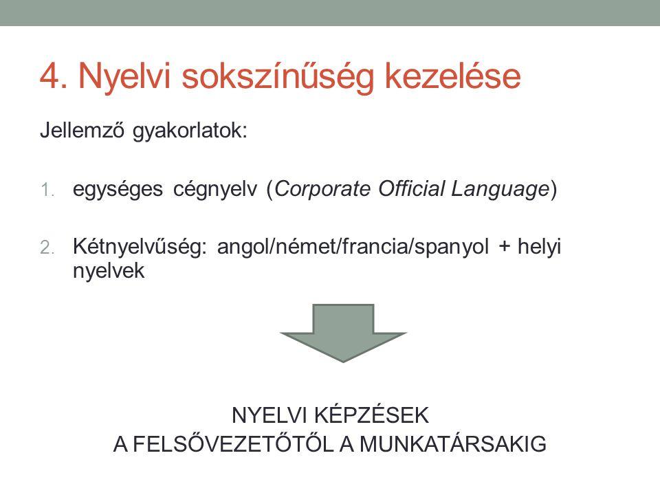 4. Nyelvi sokszínűség kezelése
