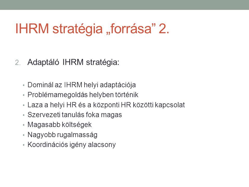 "IHRM stratégia ""forrása 2."