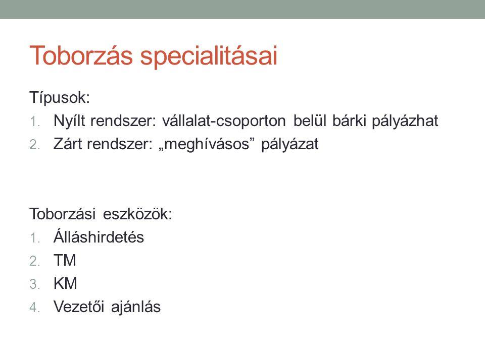 Toborzás specialitásai
