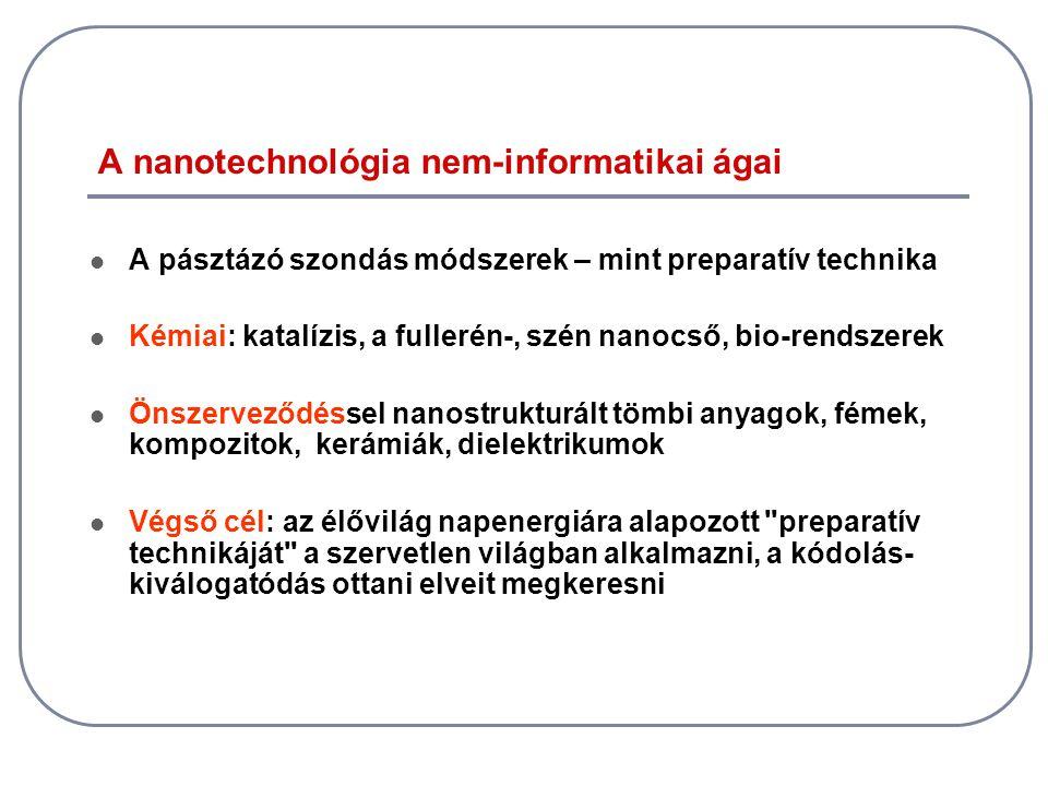 A nanotechnológia nem-informatikai ágai