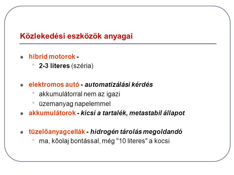 Közlekedési eszközök anyagai