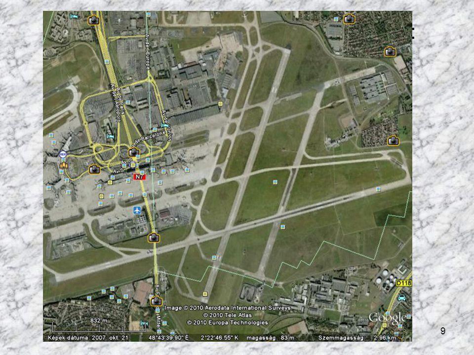A párizsi repülőtér műholdas felvétele: