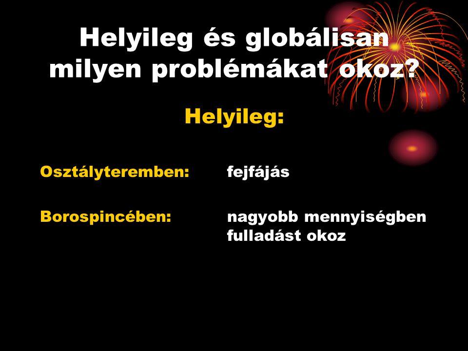 Helyileg és globálisan milyen problémákat okoz