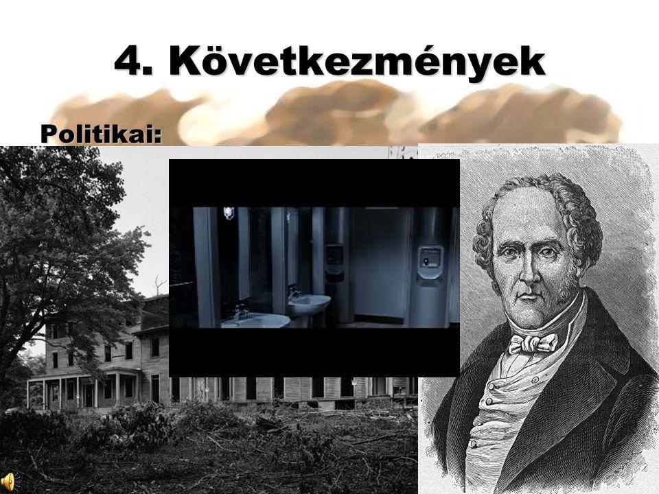 4. Következmények 2. Jótékonyság és utópia: Owen Fourier Politikai: