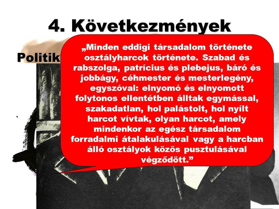 4. Következmények Politikai: Munkásmozgalmak: 4. Forradalmi út