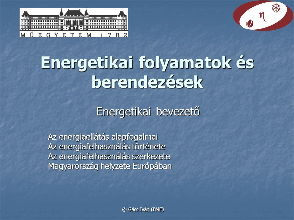 Energetikai folyamatok és berendezések