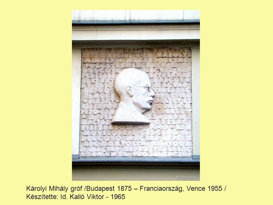 Károlyi Mihály gróf /Budapest 1875 – Franciaország, Vence 1955 /