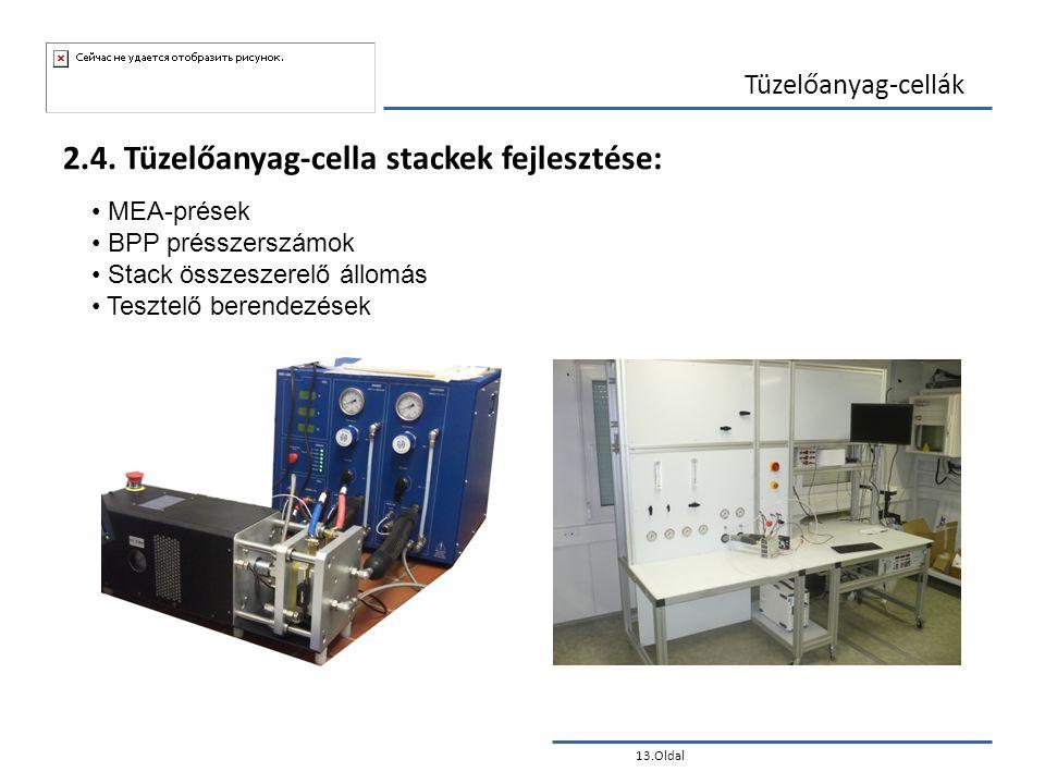 2.4. Tüzelőanyag-cella stackek fejlesztése: