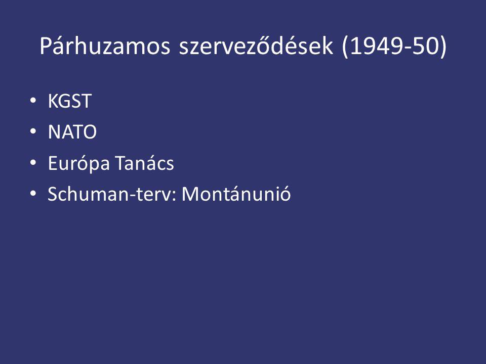 Párhuzamos szerveződések (1949-50)