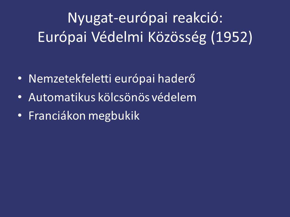 Nyugat-európai reakció: Európai Védelmi Közösség (1952)