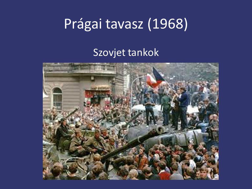Prágai tavasz (1968) Szovjet tankok
