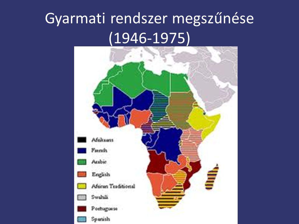 Gyarmati rendszer megszűnése (1946-1975)