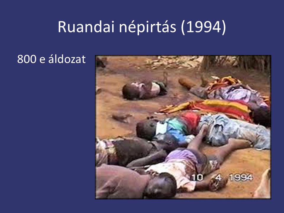 Ruandai népirtás (1994) 800 e áldozat