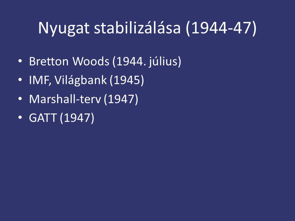 Nyugat stabilizálása (1944-47)