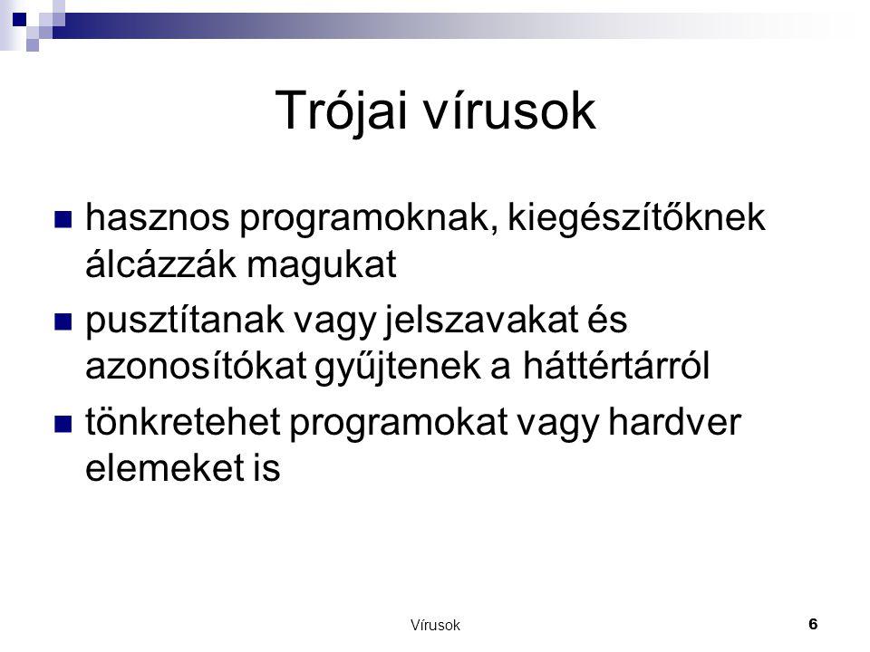 Trójai vírusok hasznos programoknak, kiegészítőknek álcázzák magukat