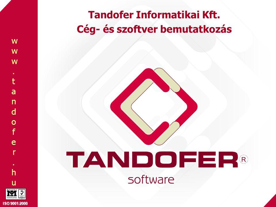 Tandofer Informatikai Kft. Cég- és szoftver bemutatkozás