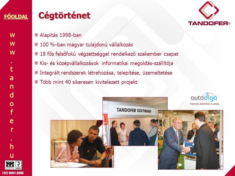 Cégtörténet Alapítás 1998-ban 100 %-ban magyar tulajdonú vállalkozás