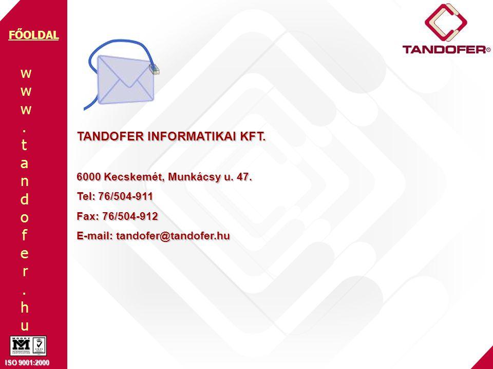 TANDOFER INFORMATIKAI KFT.