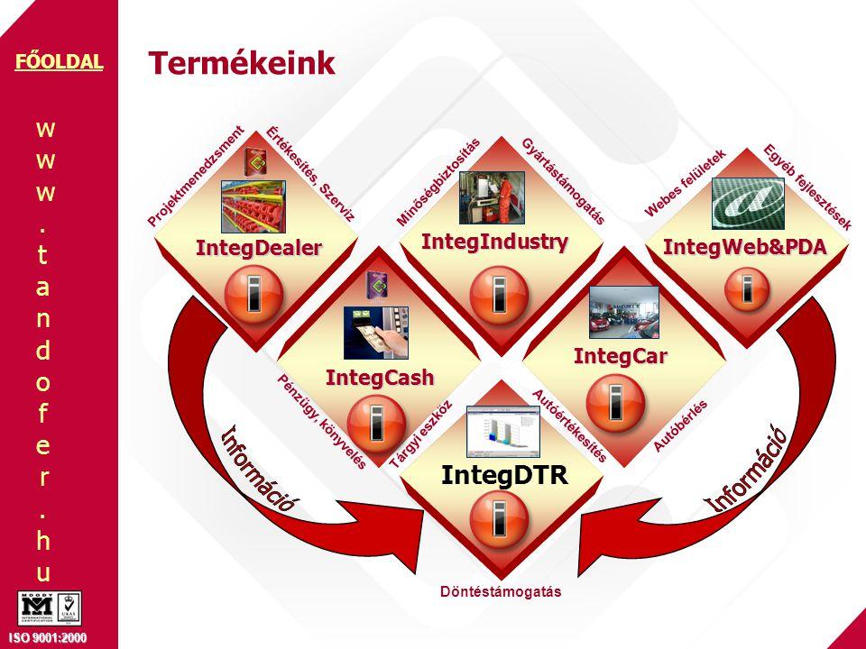 Termékeink IntegDTR Információ Információ IntegIndustry IntegDealer