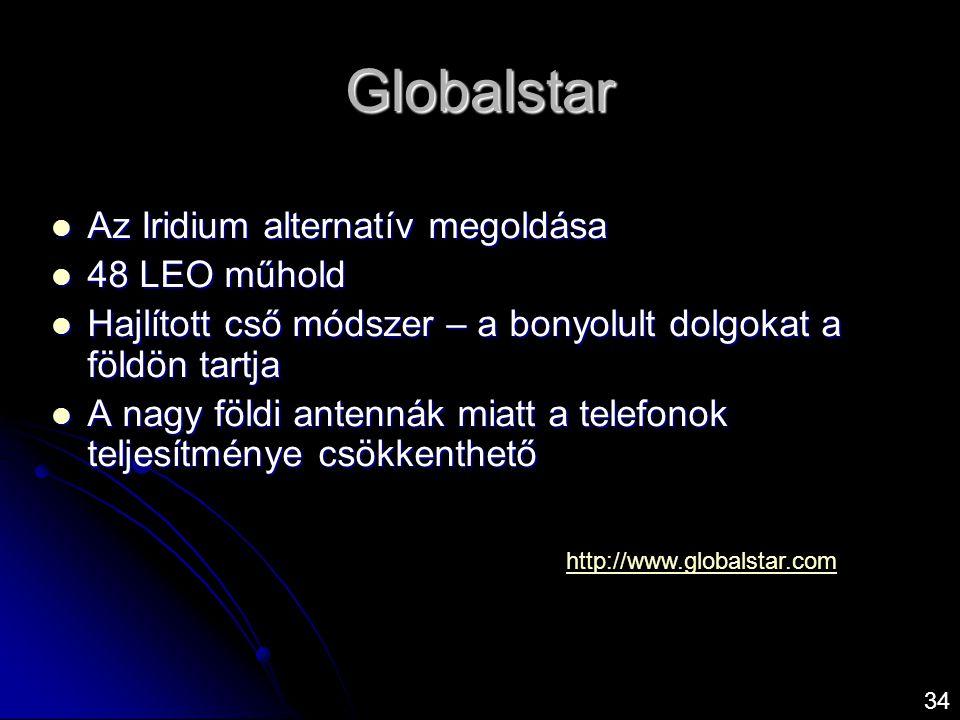 Globalstar Az Iridium alternatív megoldása 48 LEO műhold