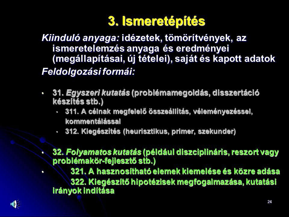 3. Ismeretépítés