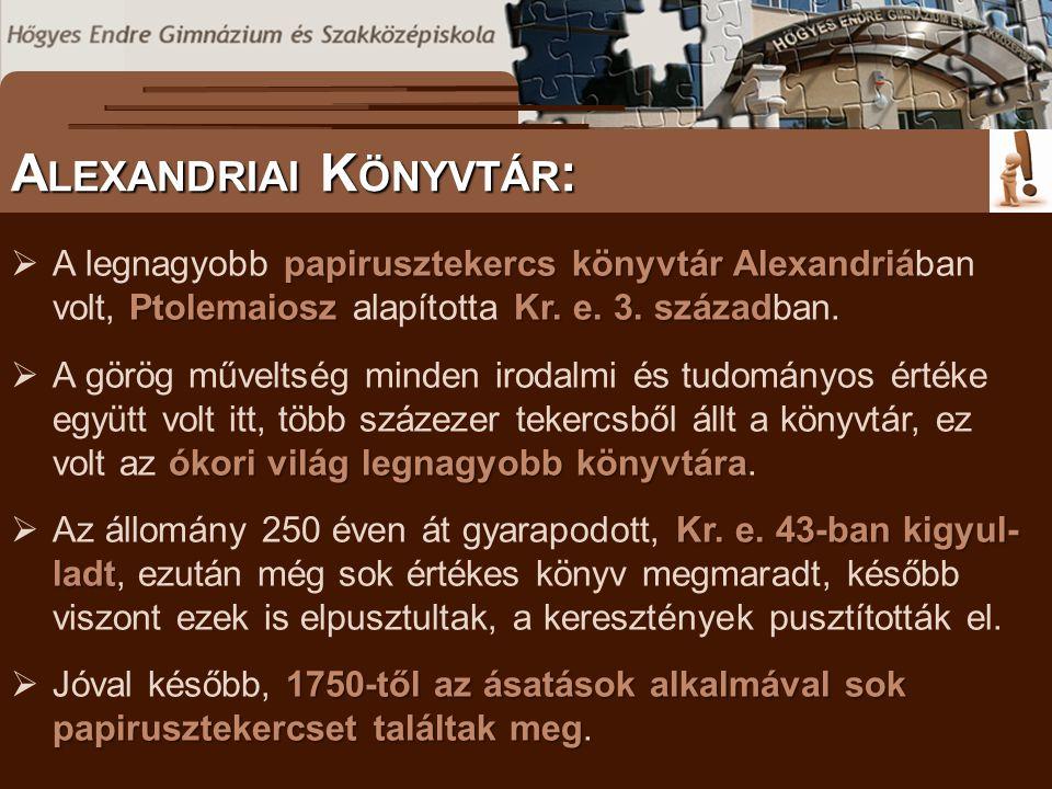 Alexandriai Könyvtár: