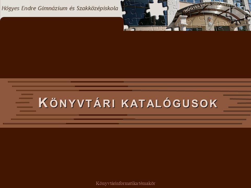 Könyvtári katalógusok