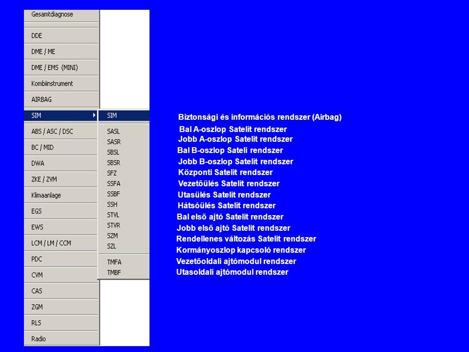Biztonsági és információs rendszer (Airbag)