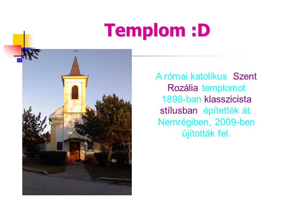 Templom :D A római katolikus Szent Rozália templomot 1898-ban klasszicista stílusban építették át.