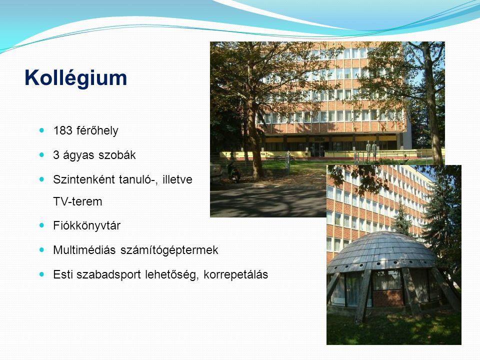 Kollégium 183 férőhely 3 ágyas szobák