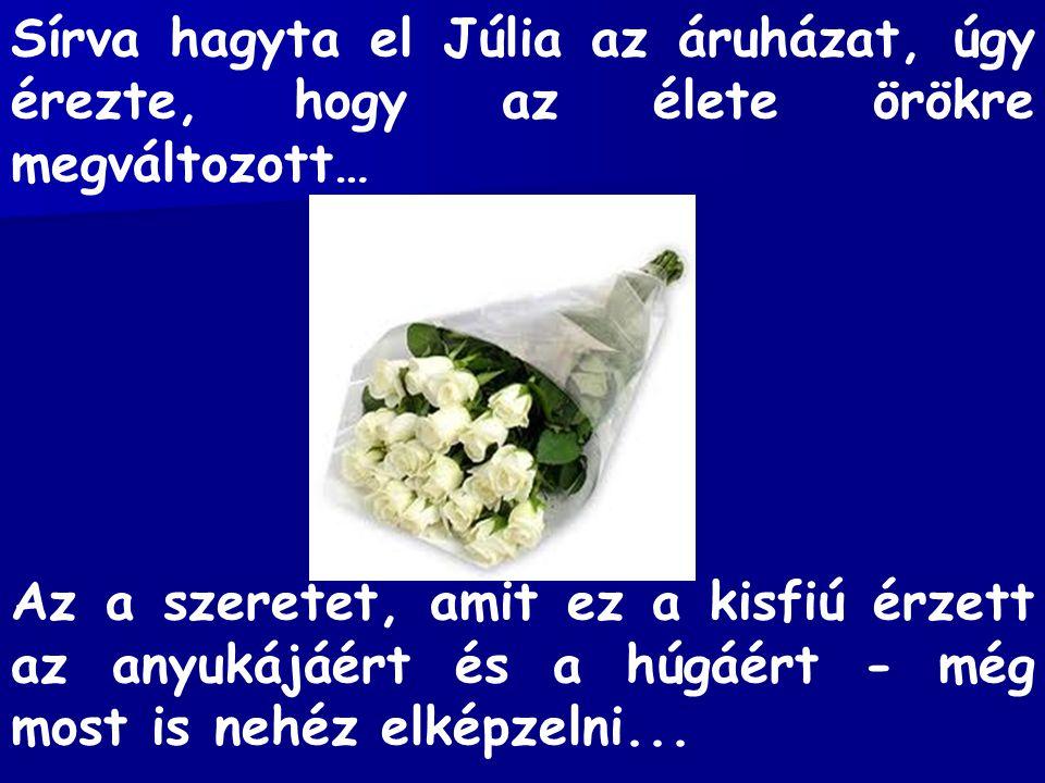 Sírva hagyta el Júlia az áruházat, úgy érezte, hogy az élete örökre megváltozott…