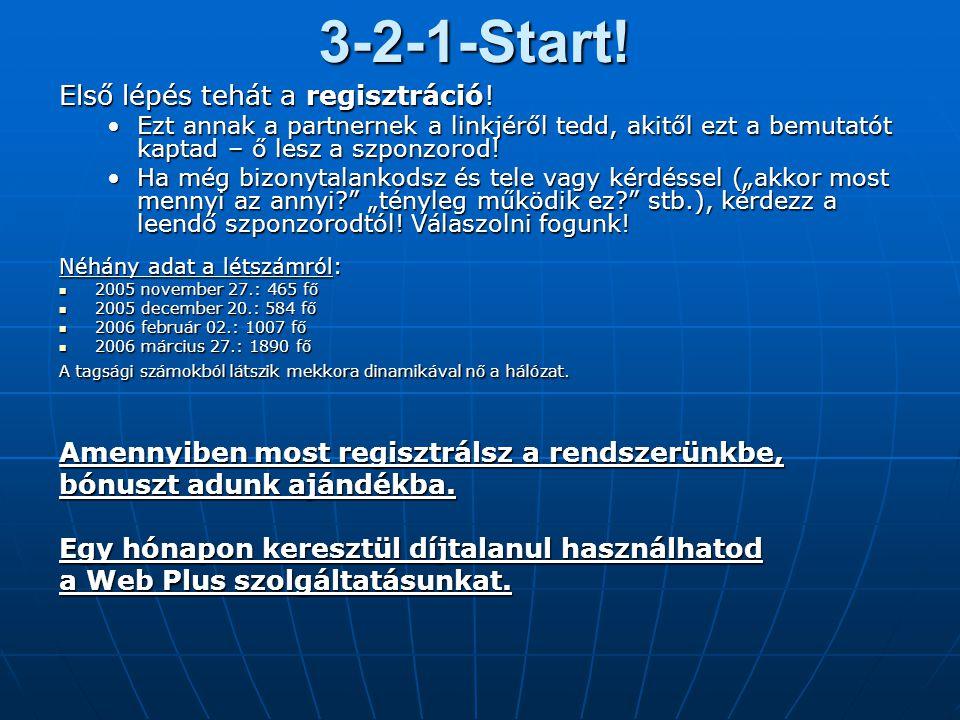 3-2-1-Start! Első lépés tehát a regisztráció!