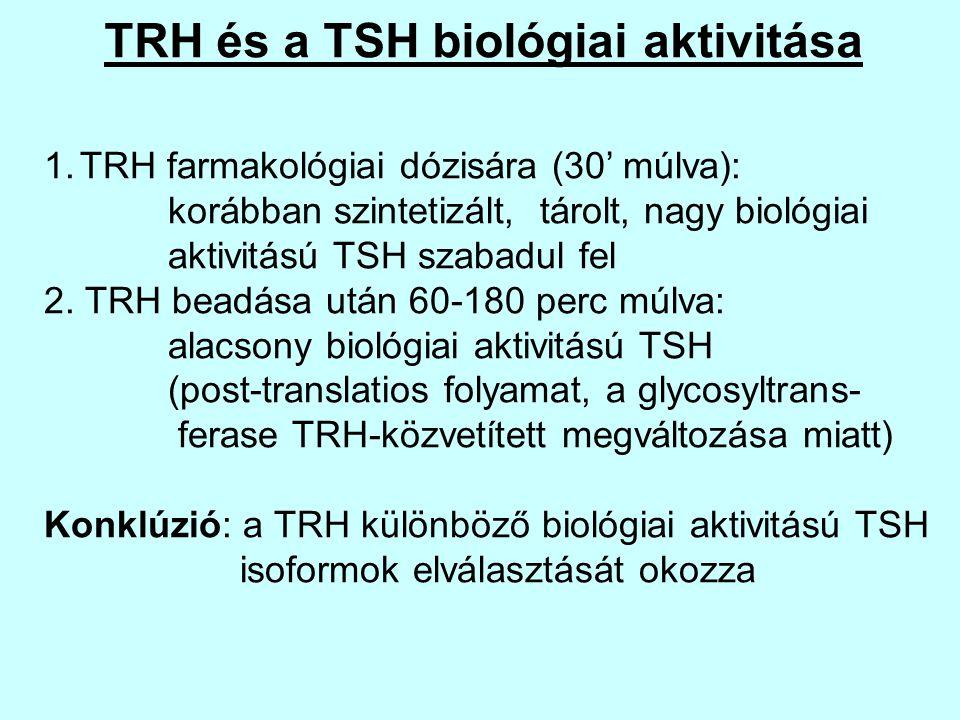 TRH és a TSH biológiai aktivitása