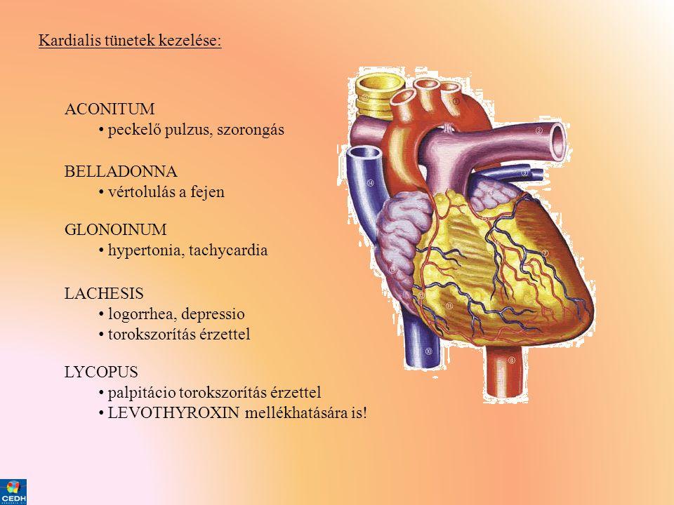 Kardialis tünetek kezelése:
