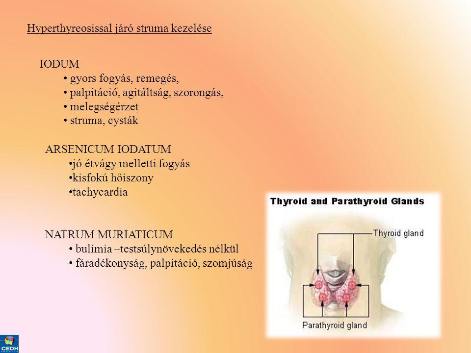 Hyperthyreosissal járó struma kezelése