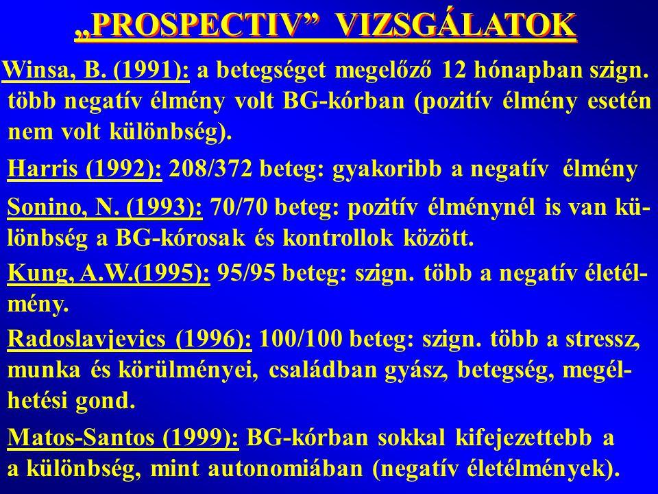 """""""PROSPECTIV VIZSGÁLATOK"""
