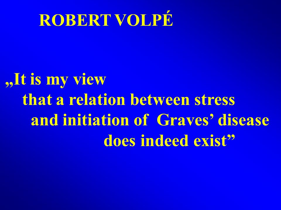 "ROBERT VOLPÉ ""It is my view. that a relation between stress."