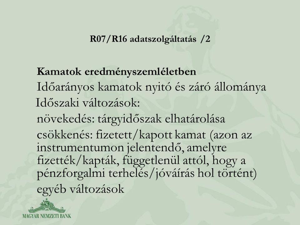 R07/R16 adatszolgáltatás /2