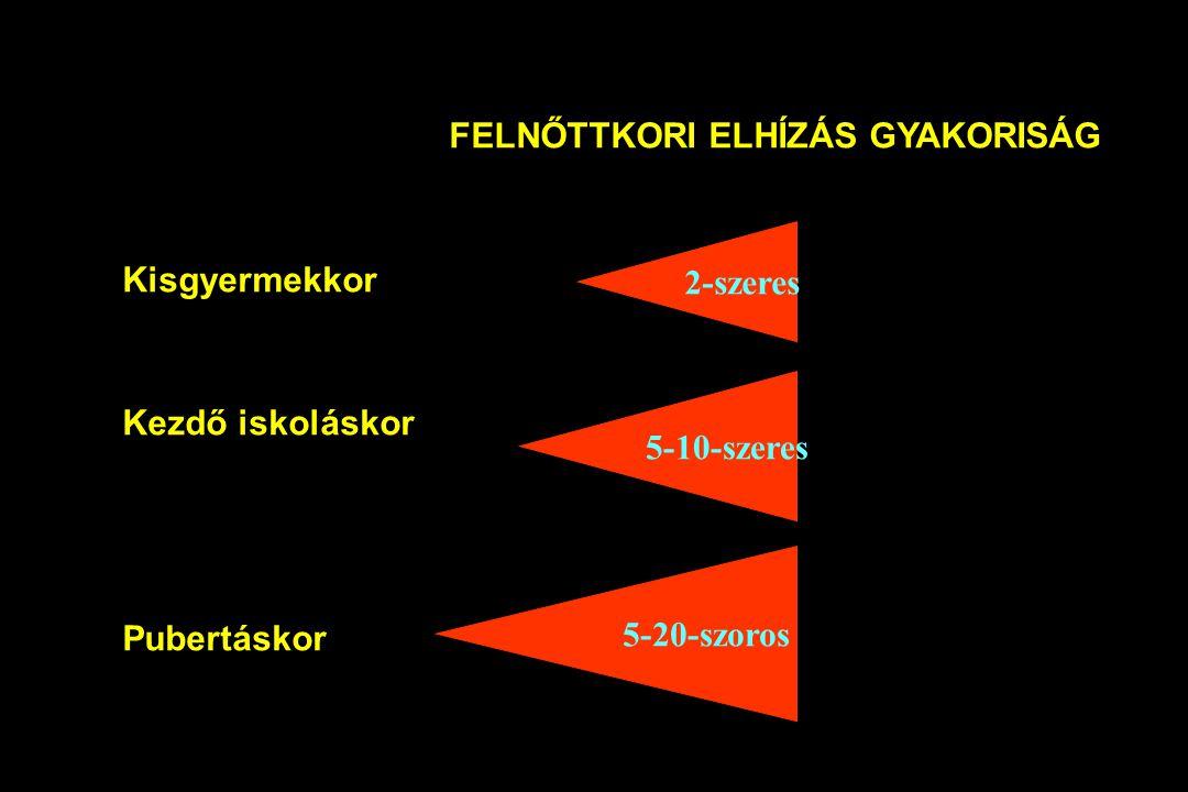 FELNŐTTKORI ELHÍZÁS GYAKORISÁG